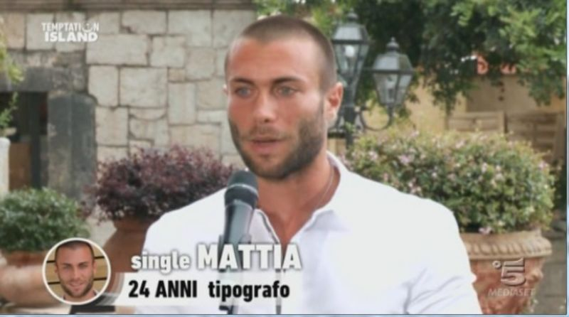 Temptation island, il single Mattia