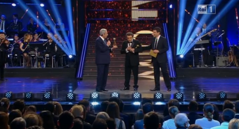 Premio tv 2014, Insinna vince cin Affari tuoi