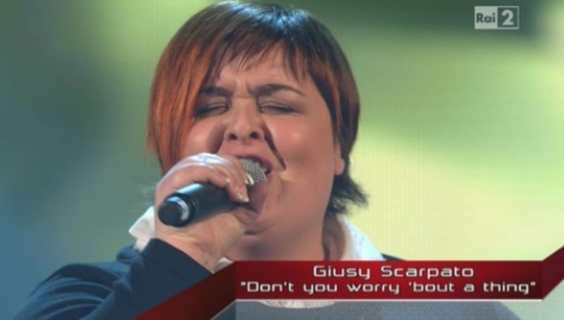 Giusy a The voice of Italy