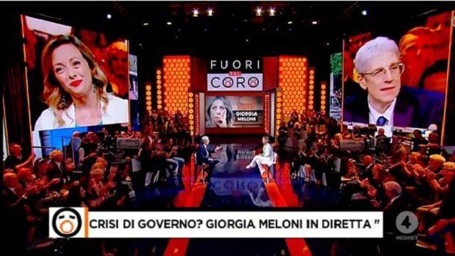 Fuori dal coro 18 luglio Giorgia Meloni