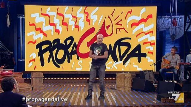Stasera in tv 13 marzo 2020 Propaganda live