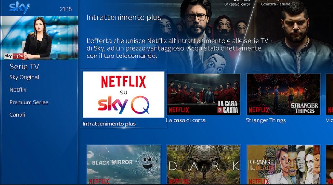 Netflix e Sky partneship europea