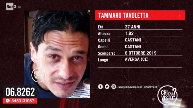 Chi l'ha visto? diretta 16 ottobre - Tammaro Tavoletta
