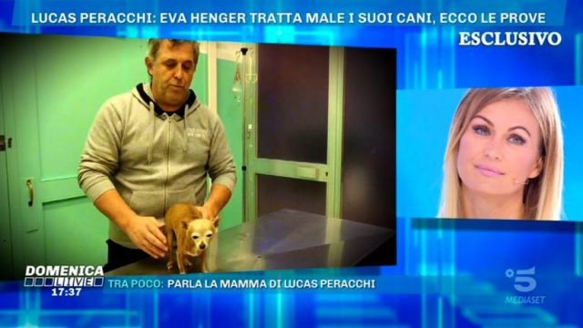 Domenica Live - Eva Henger ed il suo cane