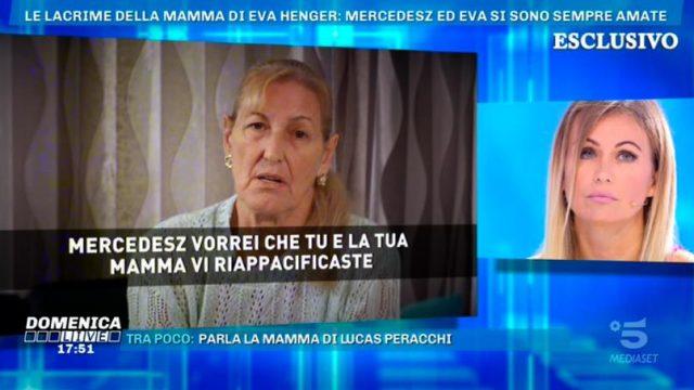 Domenica Live - la nonna di Mercedesz Henger