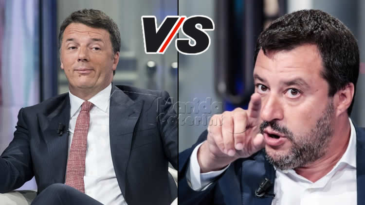 Porta a Porta - duello Renzi-Salvini