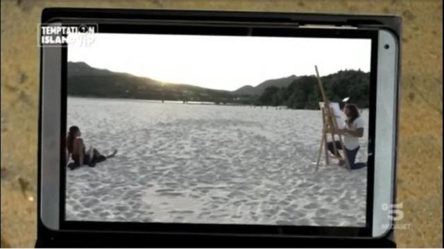 temptation spiaggia dipinto