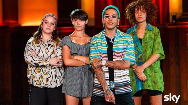 X Factor 13 - Sfera Ebbasta con il suo team