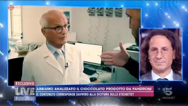 Live- non è la D'Urso -analisi cioccolato Panzironi