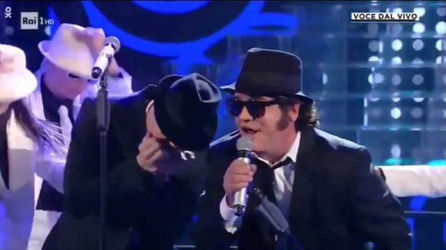 Tale e quale show - pannofino blues brothers