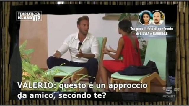 Temptation Island Vip 2-Valerio e SIlvia discussione