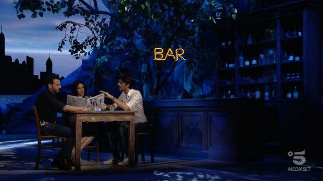 Adrian - Gigi e Ross con Ilenia Pastorelli nell'intermezzo del cartoon