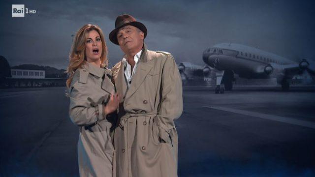 20 anni che siamo italiani 29 novembre - Vanessa Incontrada e Claudio Amendola nella parodia di Casablanca