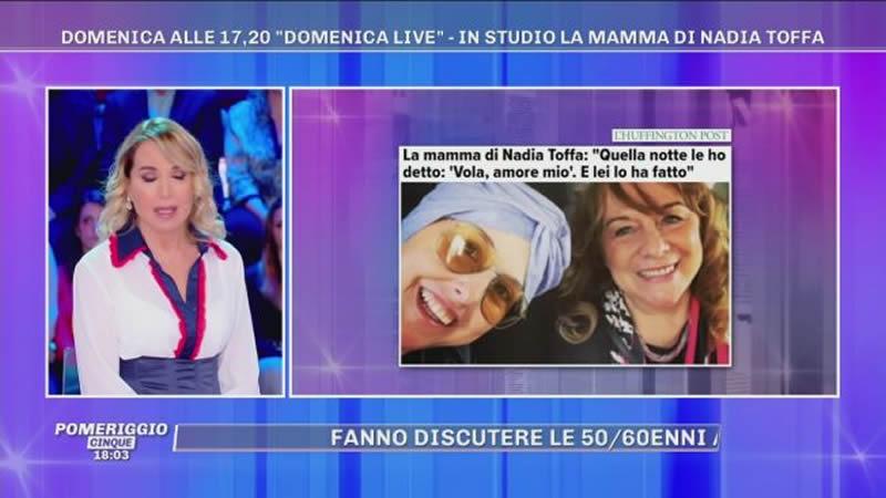 Domenica Live 10 novembre madre nadia toffa