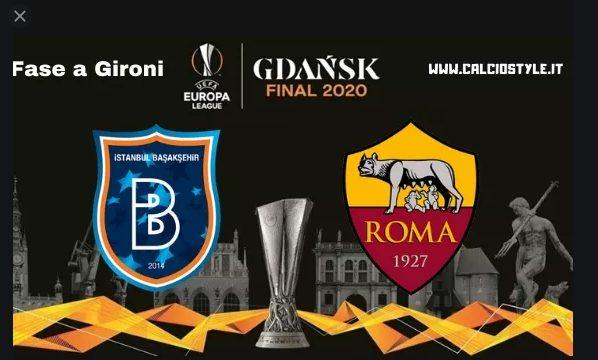 Europa League quinta giornata fase gironi Basaksehir Istanbul-Roma