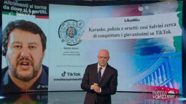 Fratelli di Crozza 22 novembre - Matteo Salvini su Tik Tok
