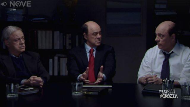 Fratelli di Crozza 22 novembre - Bersani Cuperlo e Zingaretti il Movimento dei totani come strategia del PD