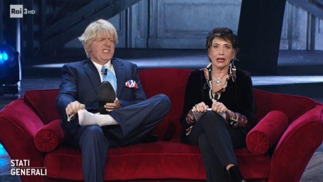 Stati Generali diretta 28 novembre - Neri Marcorè imita Boris Johnson