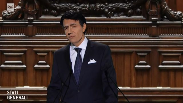 Stati Generali diretta 28 novembre - Neri Marcorè imita il Presidente Conte