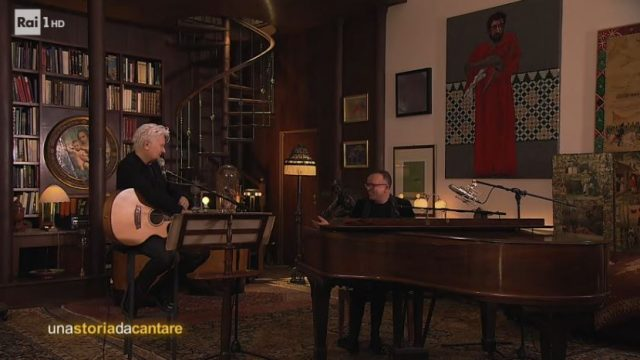 Una storia da cantare 23 novembre - Ron canta Cara con Gigi D'Alessio nella casa di Lucio Dalla