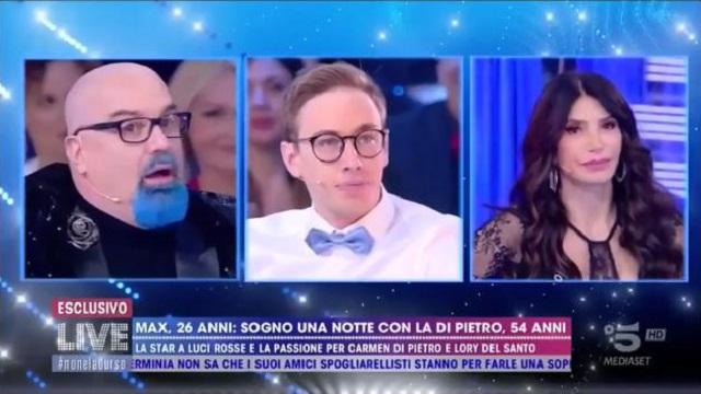 Live non è D'Urso diretta 25 novembre max felicitas