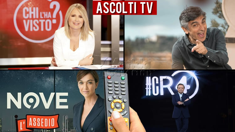 Ascolti TV mercoledì 18 dicembre 2019