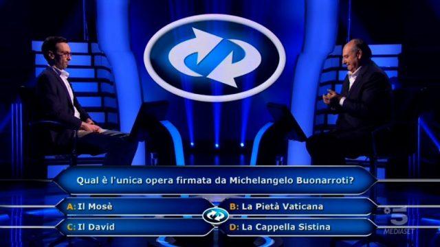 Chi vuol essere milionario? diretta 22 gennaio - Enrico Remigio cambia la domanda numero nove