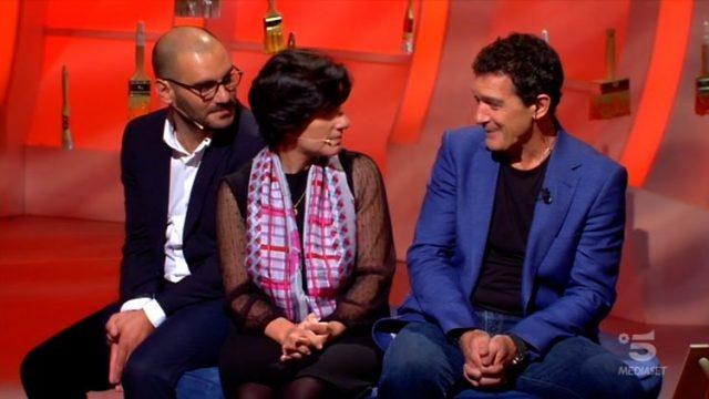 C'è posta per te 25 gennaio - Antonio Banderas con Marisa e Saverio
