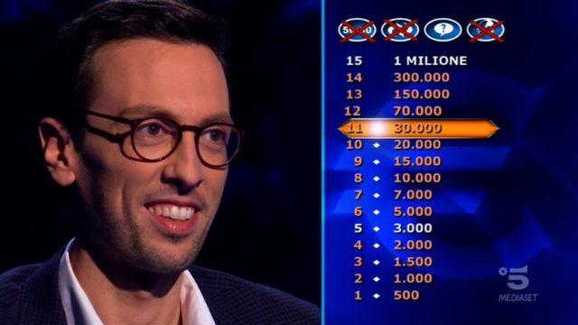 Chi vuol essere milionario? 22 gennaio - Enrico Remigio alla domanda numero dodici fissa il traguardo a 70mila euro