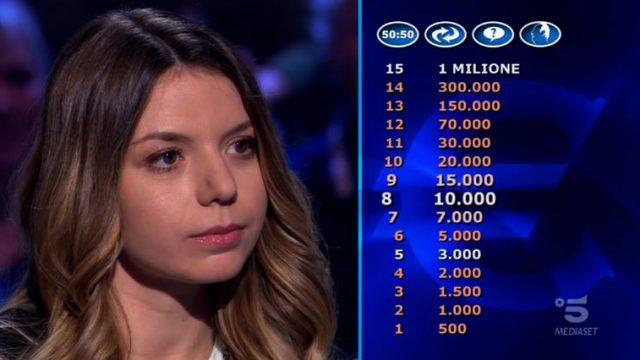 Chi vuol essere milionario diretta 29 gennaio - La concorrente Beatrice Amorosi