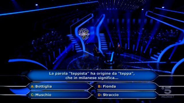 Beatrice Amorosi prosegue con la sesta domanda da 5mila euro e la settima da 7mila