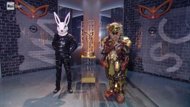 Il cantante mascherato diretta 31 gennaio - La finalissima tra il Coniglio e il Leone