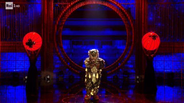 Il cantante mascherato diretta 31 gennaio - Il leone canta il Nessunn dorma durante la finalissima