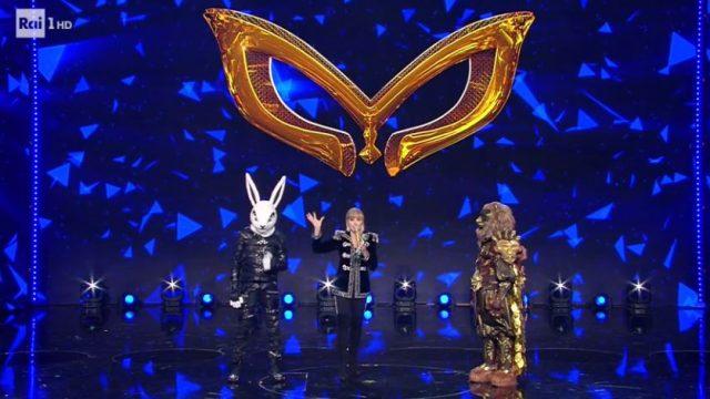 Il coniglio vince Il cantante mascherato - Il Leone è Al Bano, il Cpniglio è Teo Mammucari
