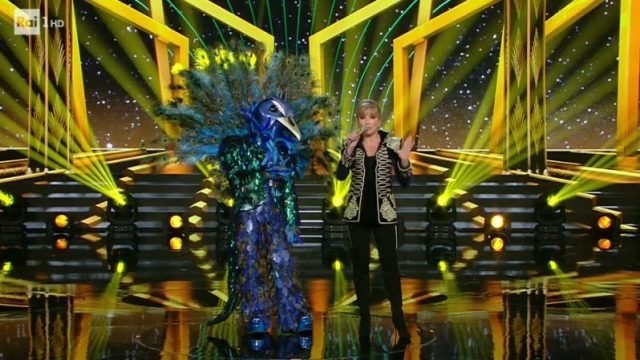 Il cantante mascherato diretta 10 gennaio - Il pavone