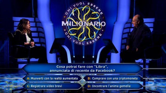 Chi vuol essere milionario diretta 29 gennaio - La quarta domanda per Beatrice Amorosi
