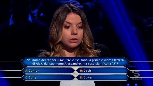 Chi vuol essere milionario diretta 29 gennaio - La domanda numero otto di Beatrice Amorosi