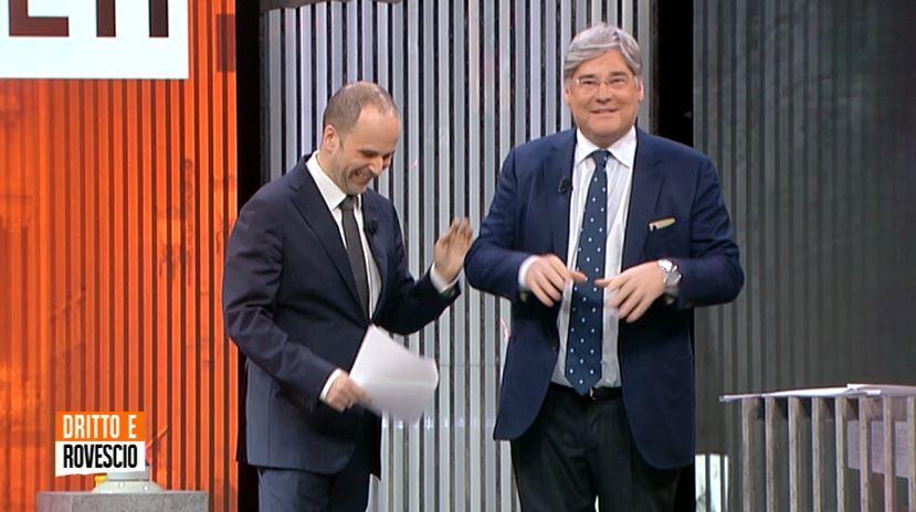 Dritto e Rovescio Del Debbio abbandona la diretta Marcello Vinonuovo