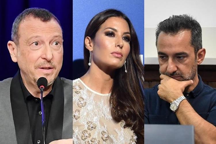 Sanremo 2020 caso Gregoraci Savino Amadeus