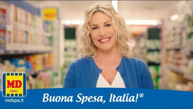 Spot in TV MD con Antonella Clerici - La spesa in musica della conduttrice