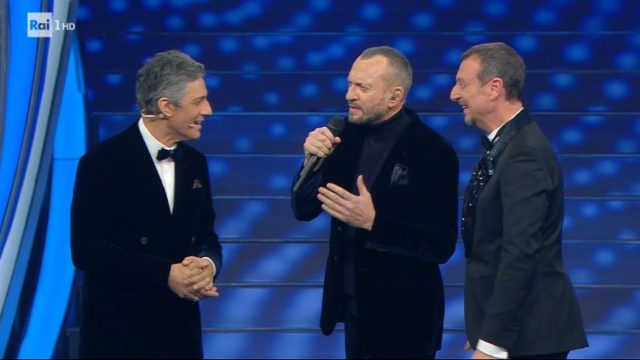Sanremo 2020 diretta quinta serata 8 febbraio - Biagio Antonacci Fiorello e Amadeus