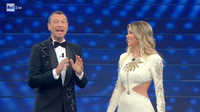 Sanremo 2020 diretta finale 8 febbraio - Entra Diletta Leotta - La gara prosegue con Alberto Urso
