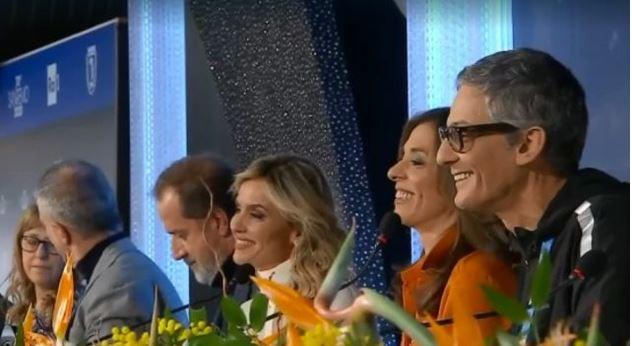 Sanremo 2020 seconda serata 5 febbraio - Conduttrici Emma D'Aquino, Laura Chimenti e Sabrina Salerno