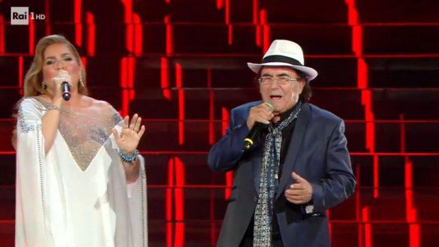 Sanremo 2020 look prima serata 4 febbraio Albano e Romina