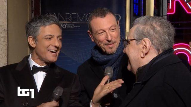 L'anteprima di Amadeus e Fiorello con Vincenzo Mollica - Fiorello apre Sanremo 2020 vestito da sacerdote