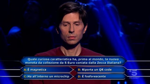 Chi vuol essere milioanrio diretta 12 febbraio - Settima domanda Alessandro Limiroli