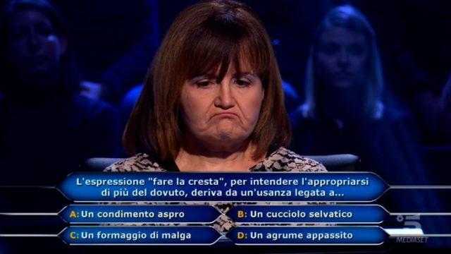 Chi vuol essere milionario diretta 12 febbraio - Maria Cristina De Gregorio risponde alla quinta domanda