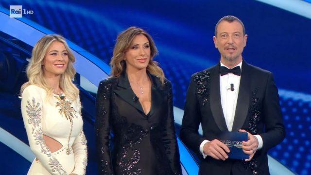 Sanremo 2020 diretta quinta serata 8 febbraio - Diletta Leotta Sabrina Salerno Amadeus