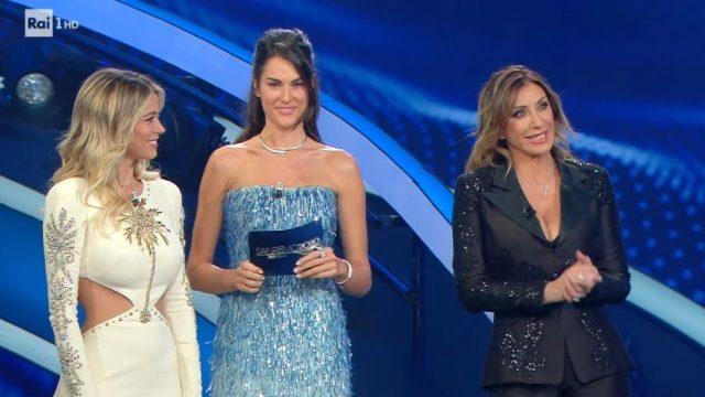 Sanremo 2020 diretta quinta serata 8 febbraio - Diletta Leotta Sabrina Salerno Francesca Sofia Novello