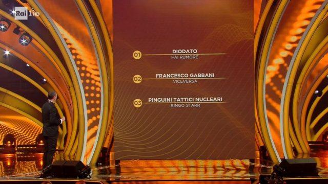 Sanremo 2020 diretta quinta serata - I tre finalisti